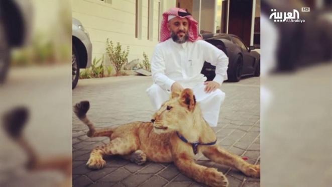 Khalifa Al Subaiy, dans sa luxueuse demeure à Doha, Qatar.