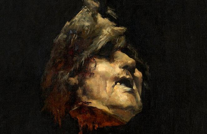 José Casado del Alisal, « Décapité pendu par les cheveux » ; étude préparatoire pour « La Légende du roi moine », c. 1880. Château de Villandry. © Château de Villandry