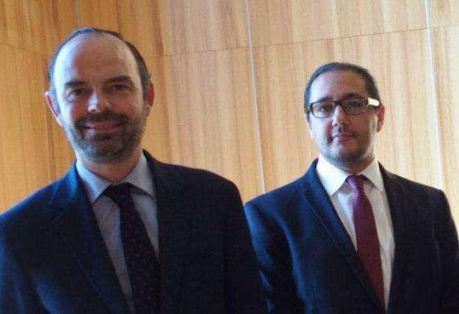 Edouard Philippe et Khalid Bouksib. © DR