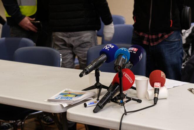 Conférence de presse pour la création du collectif Les Mutilés pour l'exemple - Gennevilliers - 28 avril 2019