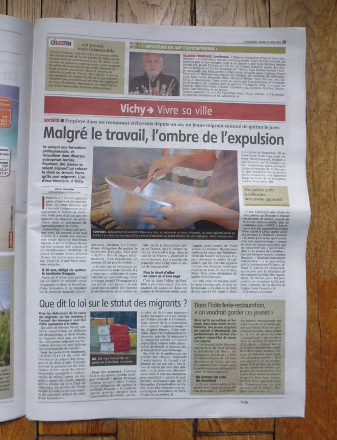 """""""La Montagne"""" (édition Vichy), le 11.06.2019, page 11."""
