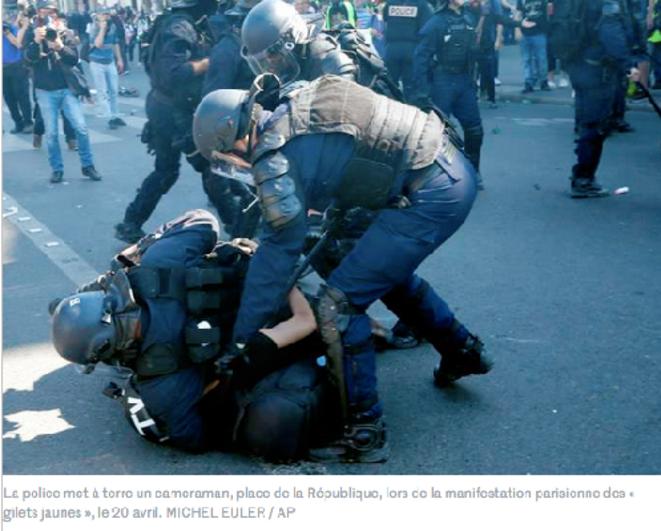 RSF et SNJ dénoncent des atteintes à la liberté d'informer © Michel Euler (AP)