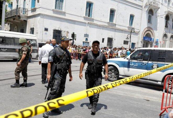 Les lieux de l'un des attentats à Tunis, le 27 juin. © Mediapart
