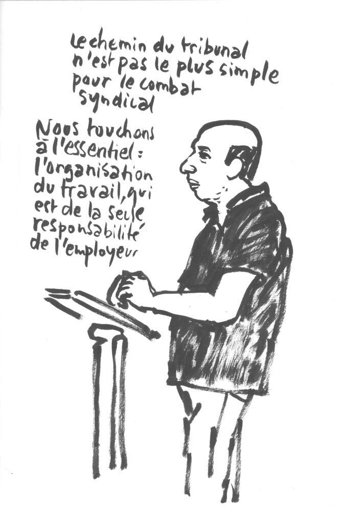 Eric Beynel proces France Télécom 28 juin 2019 © Calire Robert