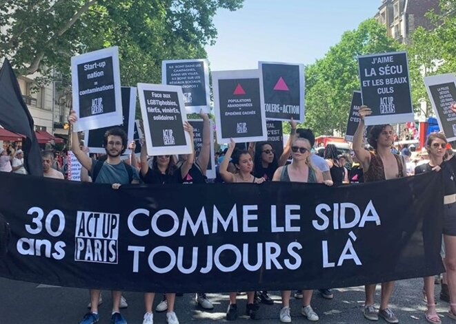 Act Up Paris Marche des Fiertés Paris 2019