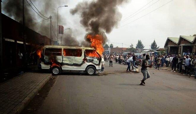 Les violences à Goma ont fait un mort le 30 juin 2019 © Twitter - DR