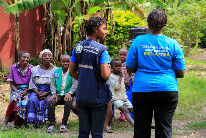 Campagne de vaccination contre le virus Ebola en Ouganda, à la frontière de la RDC, le 16 juin 2019. © Reuters