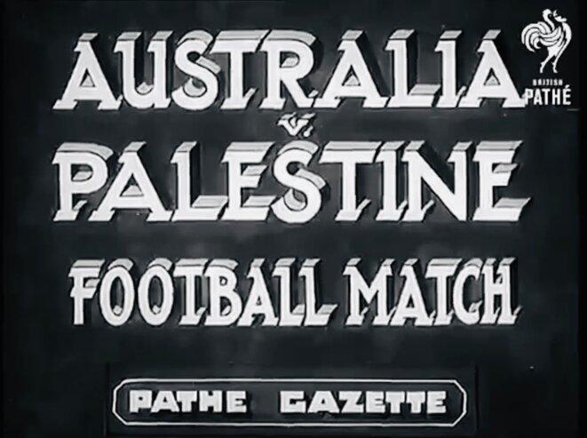 AFFICHE D'UNE RENCONTRE AUSTRALIE V PALESTINE - 1939 © PALESTINE E'M.C.