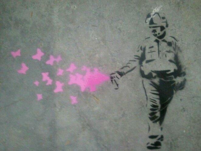 Le policier Pike par Banksy