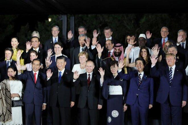 Les dirigeants du G20 à Osaka, le 28 juin 2019. © Reuters