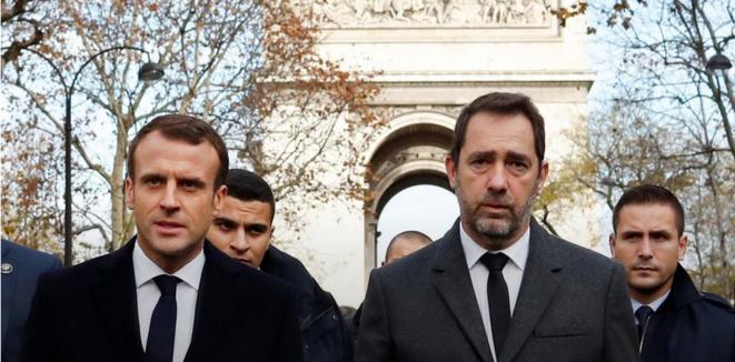 Emmanuel Macron et Christophe Castaner, le 2 décembre 2018. © Thibault Camus/Reuters