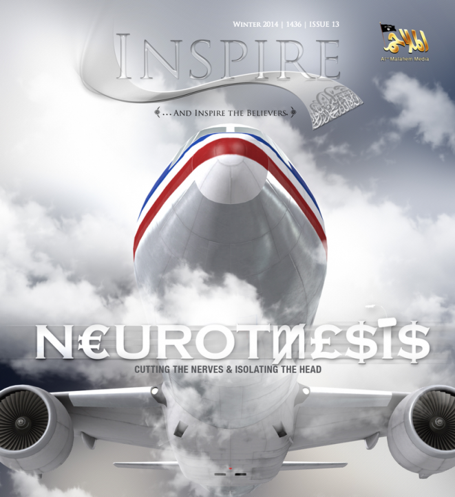 """Couverture d'""""Inspire"""", le magazine de propagande d'Al-Qaïda dans la péninsule arabique. © DR"""