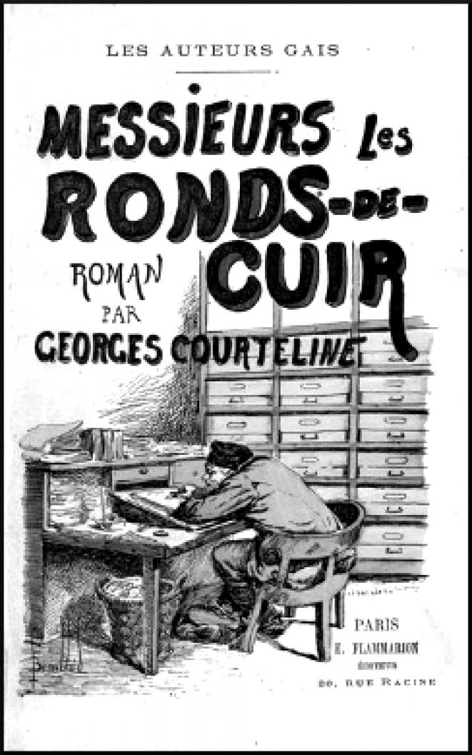 Messieurs les ronds-de-cuir (Georges Courteline, Flammarion, 1893) © Louis Bombled (illustrateur), domaine public (Wikimedia Commons)