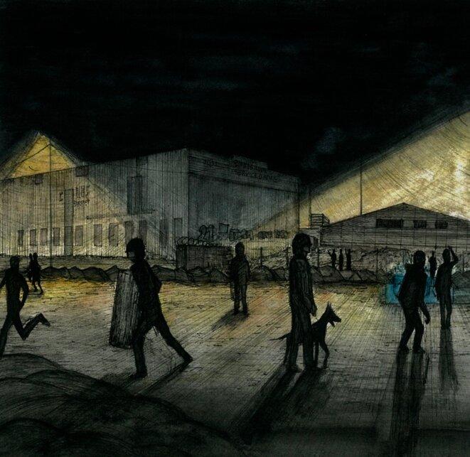 L'intervention policière, le soir du 22 juin, quai Wilson à Nantes. © EP
