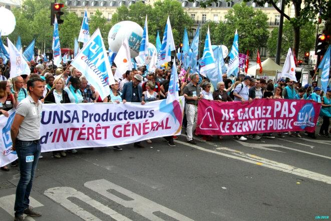 Manifestation Fonction publique du 22/05/2018 © Luc Bentz, licence CC BY-SA-NC
