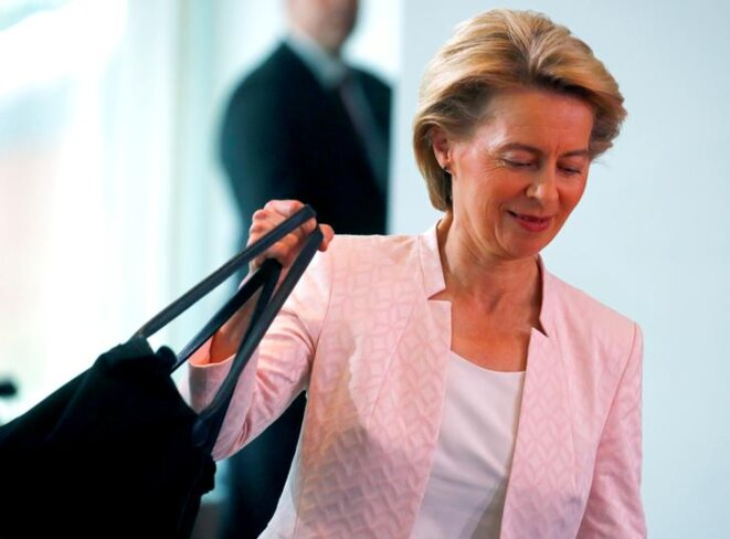 Ursula von der Leyen à Berlin, le 3 juillet. © Reuters