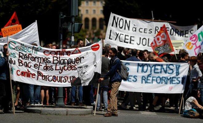 Manifestation d'enseignants, à Rennes, le 17 juin 2019. © Reuters