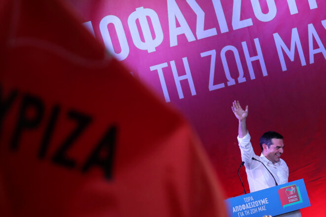 Alexis Tsipras lors d'un meeting électoral, le 18 juin 2019 © Reuters