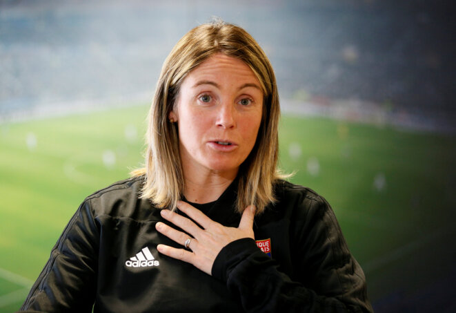 Sonia Bompastor, directrice de la section féminine au sein du centre de formation de l'OL. © Reuters