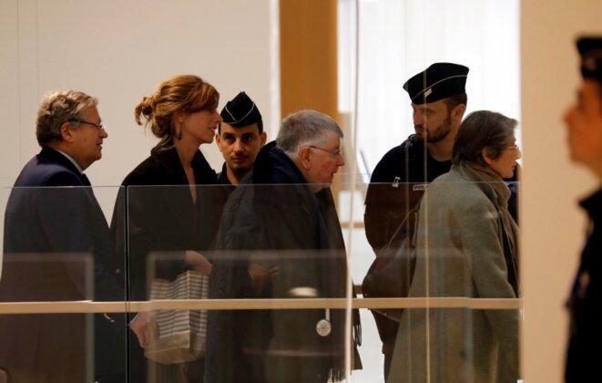 Didier Lombard arrive au début du procès, le 6 mai 2019. © Reuters/Charles Platiau