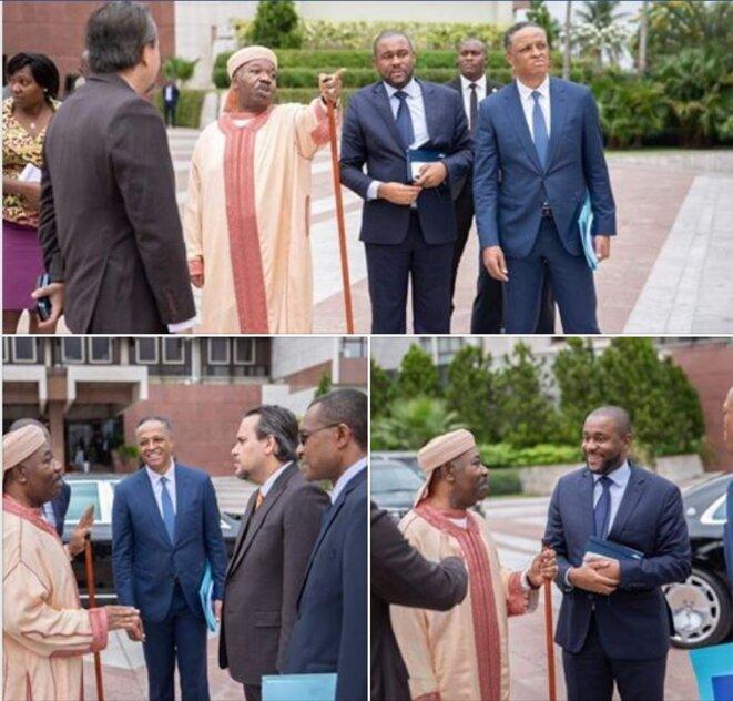 Photo prise au Gabon le 4 juillet 2019, au sein du palais présidentiel