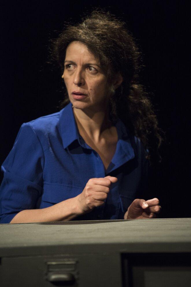 """Myriam Saduis dans """"Final cut"""" © Marie-Françoise Plissart"""