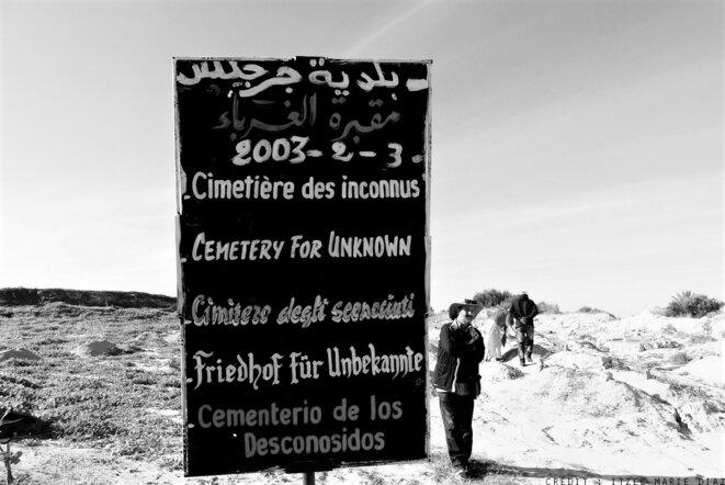 Le cimetière des inconnus de Chamseddine Marzoug - Zarzis, novembre 2018 © Itzel Marie Diaz