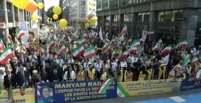 Manifestation pour un changement de régime et un Iran libre à Bruxelles le 15 juin 2019