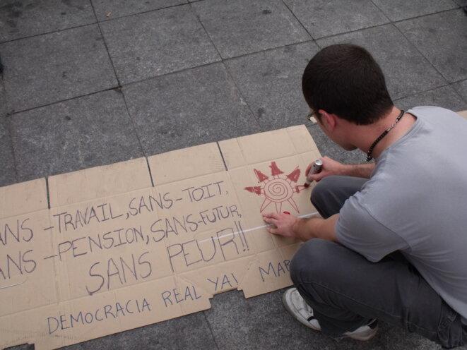 ... et sans langue de bois ! Photo prise le lendemain devant la préfecture. © Philippe Léger