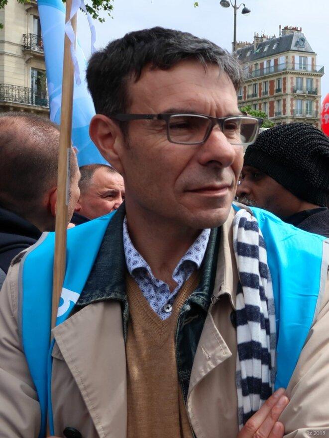Stéphane Crochet, secrétaire général du SE-UNSA (9 mai 2019) © Luc Bentz.