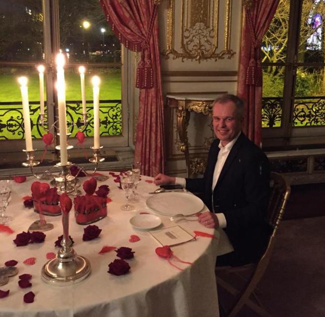 François de Rugy, pour la Saint-Valentin 2018. © DR/Mediapart