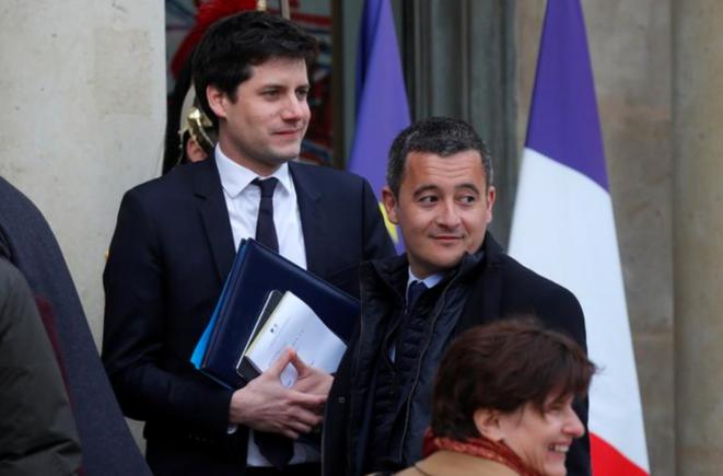 Julien Denormandie et Gérald Darmanin. © Reuters
