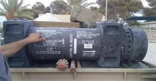 L'un des missiles retrouvés le 26 juin. © Fil Twitter d'Oded Berkowitz.