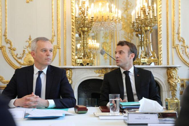 François de Rugy et Emmanuel Macron. © Reuters