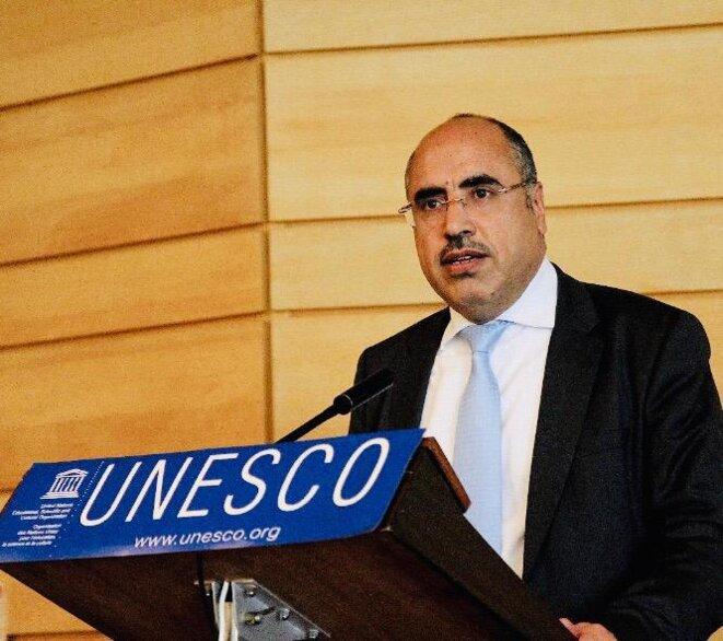 Prof. Ibrahim ALBALAWI Ambassadeur, Délégué permanent du Royaume d'Arabie Saoudite auprès de l'UNESCO,  Docteur en sociolinguistique,  rédacteur en chef de la revue scientifique Synergies Monde Arabe et professeur des universités à l'Université du Roi Saoud à Riyad.