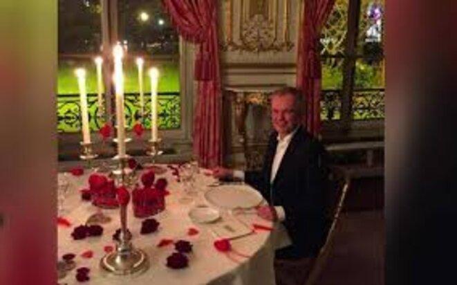 Il faut imaginer Rugy heureux! © Des photos de François de Rugy lors de ces dîners ont été publiées par Mediapart