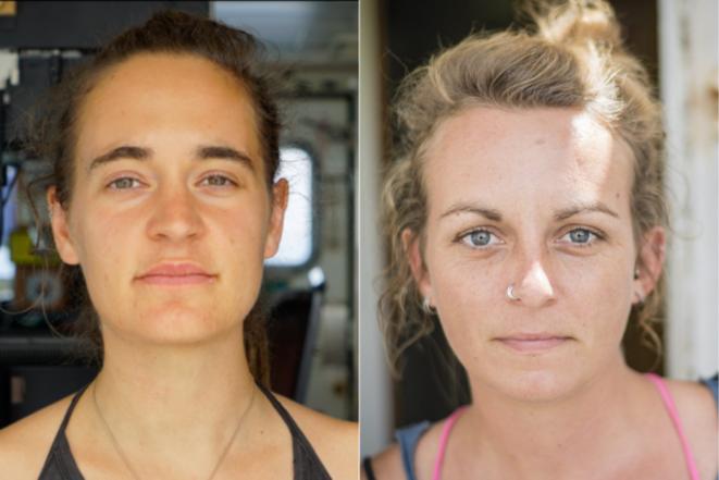 Montage de portraits de C. Rackete et P. Klemp / Sea Watch