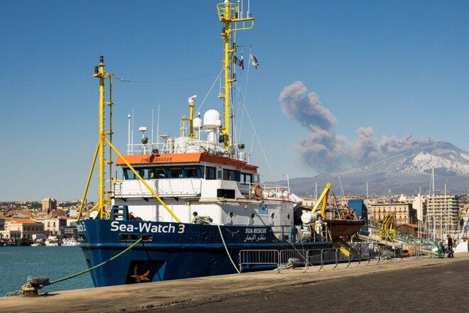 Le Sea Watch 3 dans le port de Catane