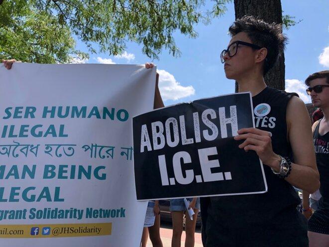 «Abolish ICE » © Mathieu Magnaudeix