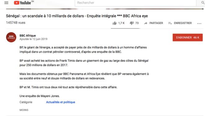 Description de la vidéo sur Youtube © BBC AFRIQUE