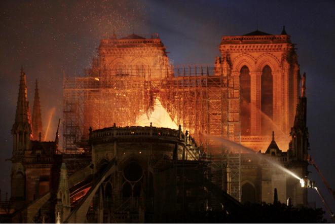 Incendie de Notre-Dame, 15 avril, Paris. © Patrick Artinian