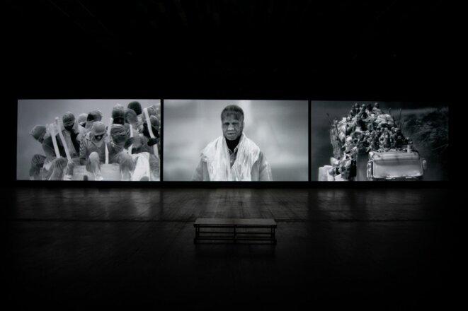 Vue de l'exposition Incoming de Richard Mosse, Lieu unique, Nantes, 2019. © David Gallard