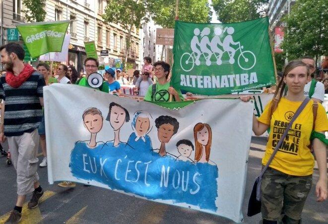 Le 25 mai 2019, lors de la marche pour le climat à Lyon