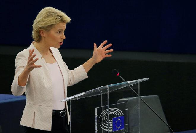 Ursula von der Leyen le 16 juillet 2019 à Strasbourg. © Reuters/Vincent Kessler