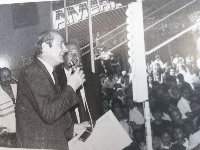 Jacques Chirac et Marcel Campion, en 1989. © DR