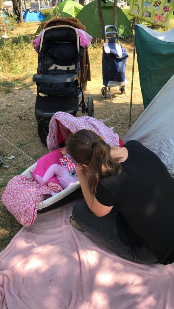 Des réfugiés est-européens sans eau ni toilettes à Strasbourg-Neuhof