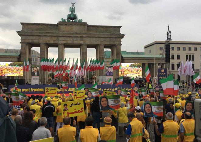 Manifestation à Berlin pour un Iran libre et un changement de régime