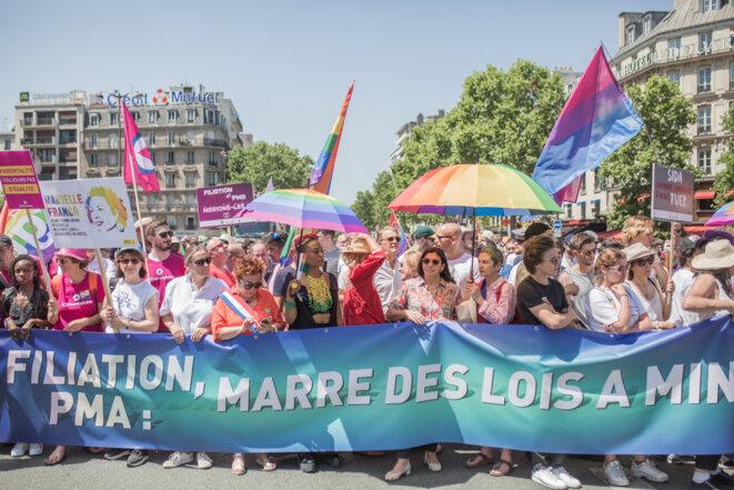 Marche des fiertés à Paris, juin 2019. © Pierre Michel Jean