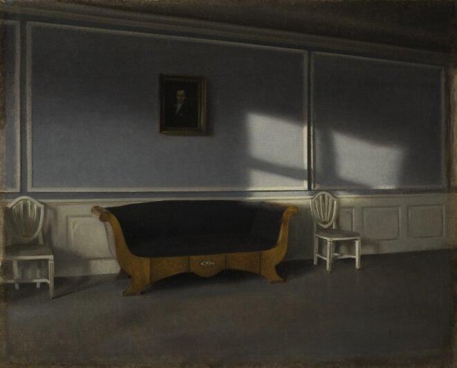 Vilhelm Hammershøi, Rayon de soleil dans le salon, III, 1903, huile sur toile, 54 x 66 cm Stockholm, Nationalmuseum, Suède © Photo: Erik Cornelius/Nationalmuseum