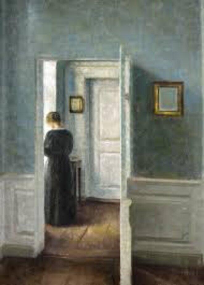Vilhelm Hammershoi (1864-1916), Intérieur avec une femme debout, huile sur toile, 67,5 x 54,3 cm Ambassador John L. Loeb Jr. Danish Art Collection © TX0006154704, registered March 22, 2005